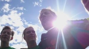 Anders blev en anelse forelsket da Skytte brølede sejrssangen efter kampen